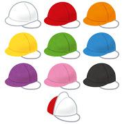いろいろな紅白帽のイラスト
