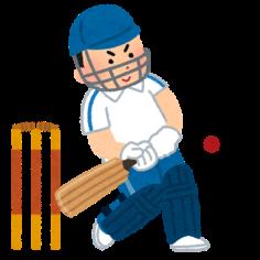 クリケットのイラスト